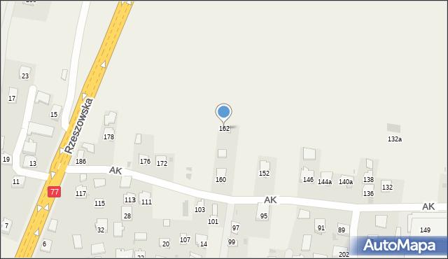 Żurawica, Armii Krajowej, 162, mapa Żurawica