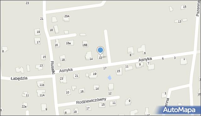 Chełm, Asnyka Adama, 12, mapa Chełma