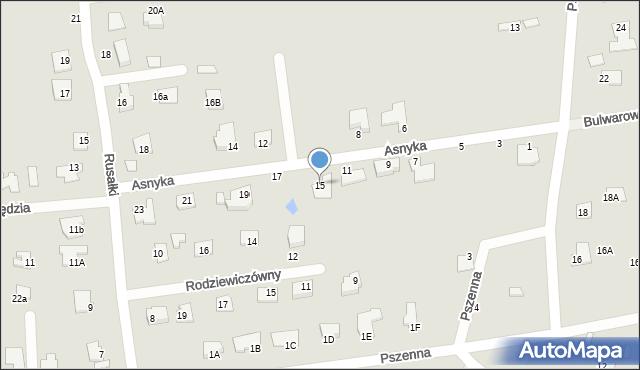 Chełm, Asnyka Adama, 15, mapa Chełma