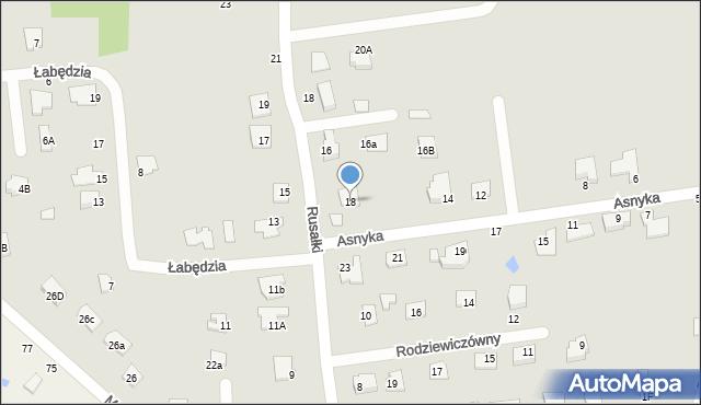 Chełm, Asnyka Adama, 18, mapa Chełma