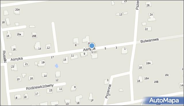 Chełm, Asnyka Adama, 7, mapa Chełma