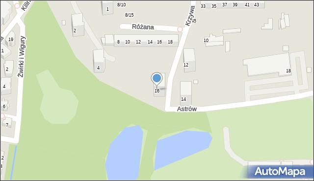 Chorzów, Astrów, 16, mapa Chorzów