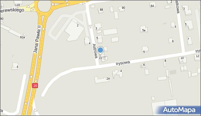 Grudziądz, Astrowa, 11, mapa Grudziądza