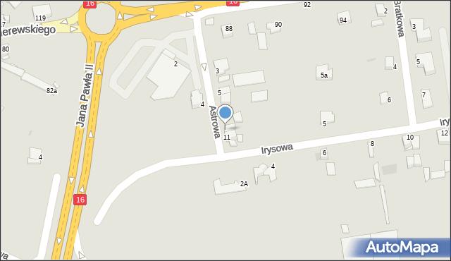 Grudziądz, Astrowa, 9, mapa Grudziądza