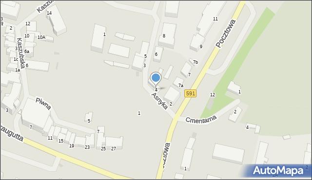 Kętrzyn, Asnyka Adama, 4, mapa Kętrzyn