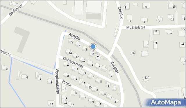 Limanowa, Asnyka Adama, 2, mapa Limanowa