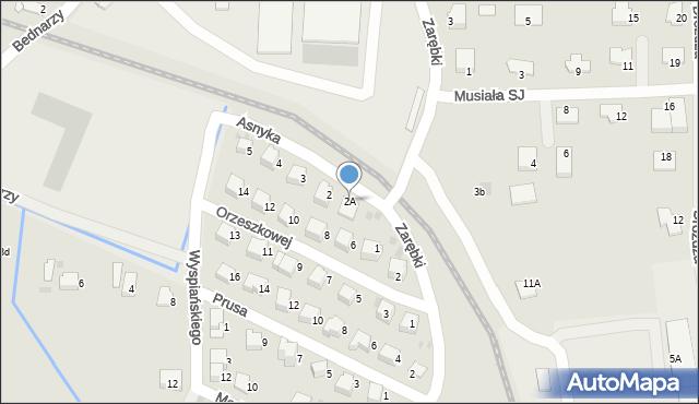 Limanowa, Asnyka Adama, 2A, mapa Limanowa