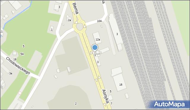 Nysa, Asnyka Adama, 1, mapa Nysy