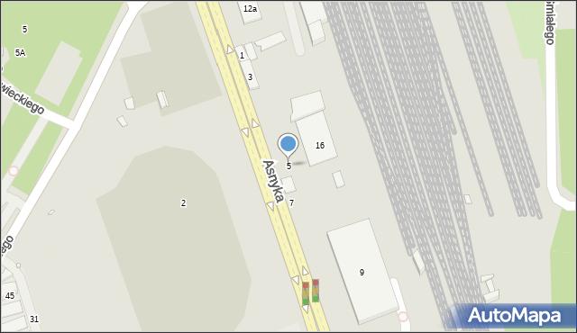 Nysa, Asnyka Adama, 5, mapa Nysy