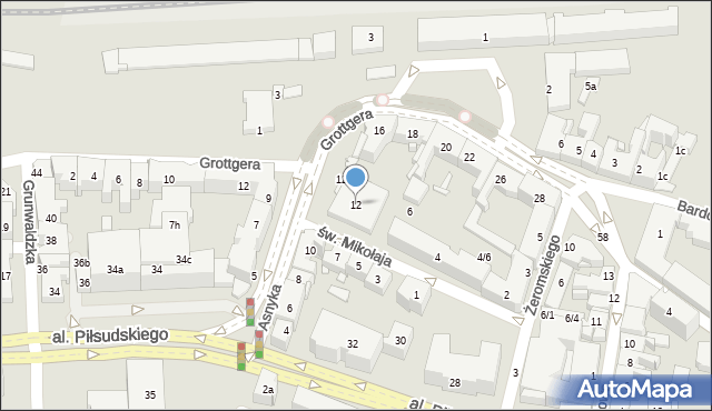 Rzeszów, Asnyka Adama, 12, mapa Rzeszów