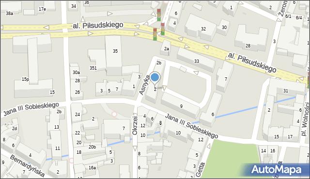 Rzeszów, Asnyka Adama, 2, mapa Rzeszów