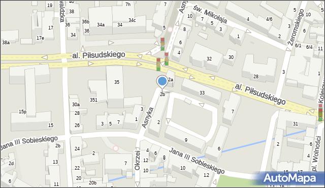 Rzeszów, Asnyka Adama, 2b, mapa Rzeszów