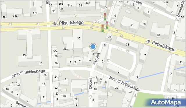 Rzeszów, Asnyka Adama, 3, mapa Rzeszów