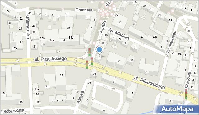 Rzeszów, Asnyka Adama, 4, mapa Rzeszów