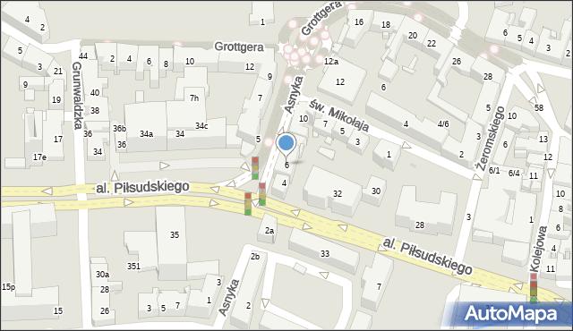Rzeszów, Asnyka Adama, 6, mapa Rzeszów