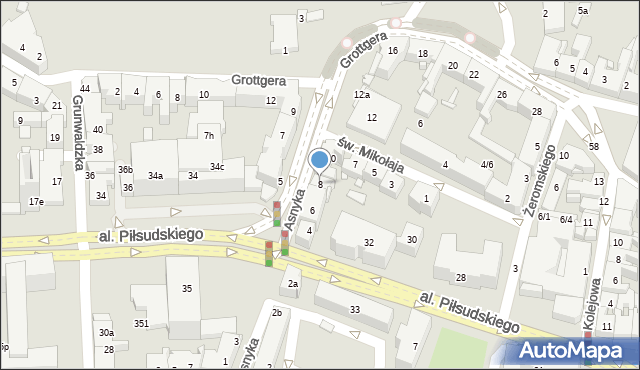 Rzeszów, Asnyka Adama, 8, mapa Rzeszów