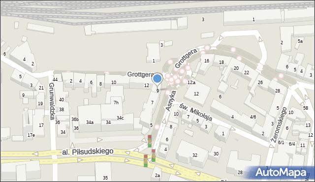 Rzeszów, Asnyka Adama, 9, mapa Rzeszów