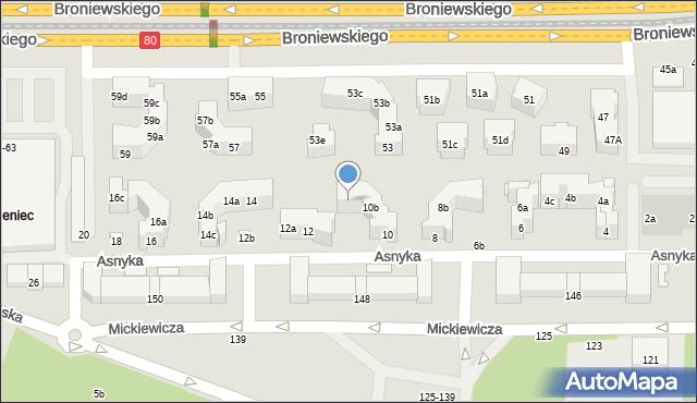 Toruń, Asnyka Adama, 10c, mapa Torunia