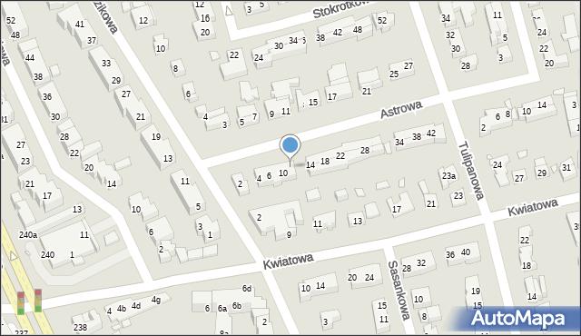 Toruń, Astrowa, 12, mapa Torunia