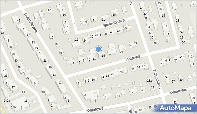 Toruń, Astrowa, 13, mapa Torunia