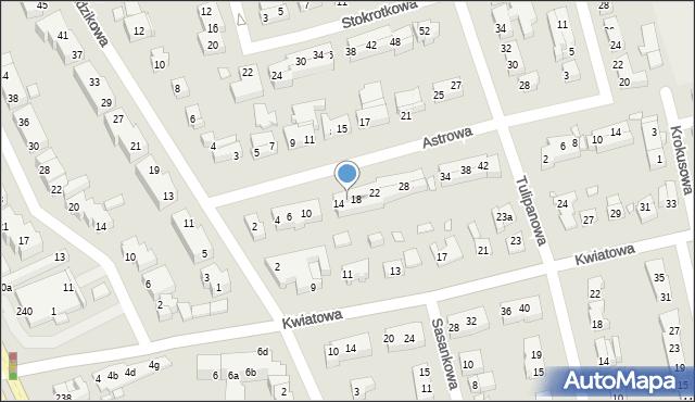 Toruń, Astrowa, 16, mapa Torunia