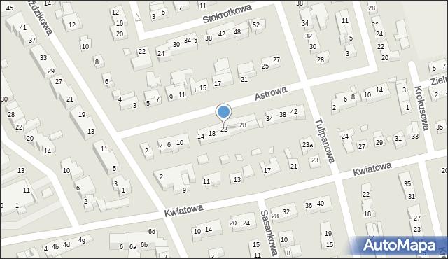 Toruń, Astrowa, 22, mapa Torunia