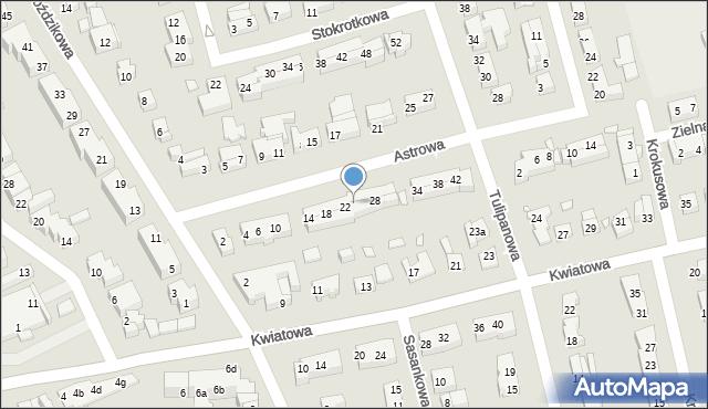 Toruń, Astrowa, 24, mapa Torunia