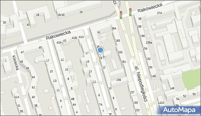 Warszawa, Asfaltowa, 14, mapa Warszawy