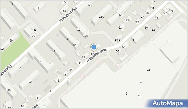 Białystok, Augustowska, 13/1, mapa Białegostoku