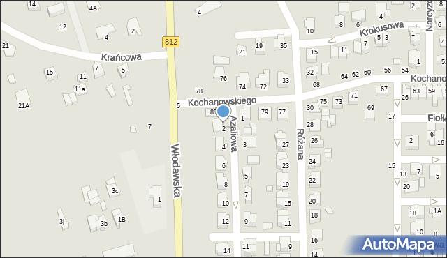 Chełm, Azaliowa, 2, mapa Chełma