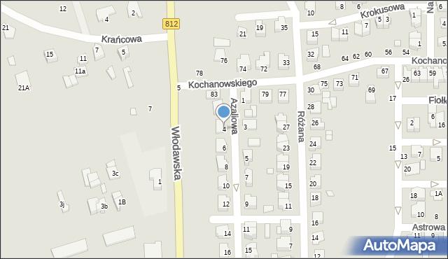 Chełm, Azaliowa, 4, mapa Chełma