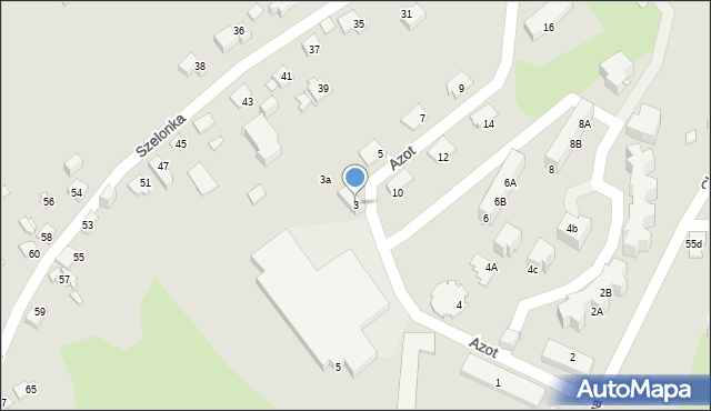 Jaworzno, Azot, 3, mapa Jaworzno