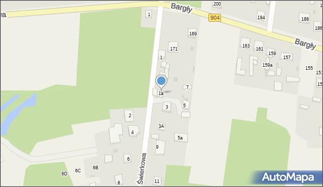 Bargły, Bargły, 7, mapa Bargły