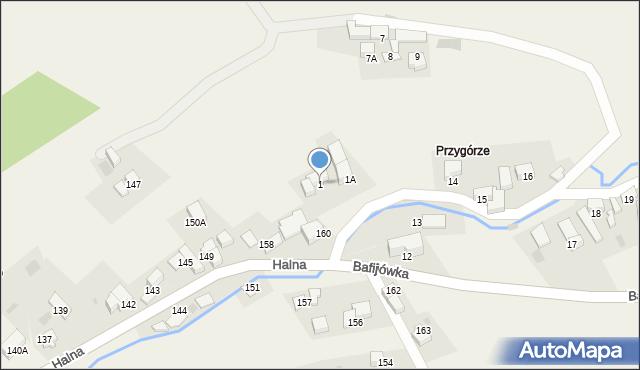 Brzegi, Bafijówka, 1, mapa Brzegi