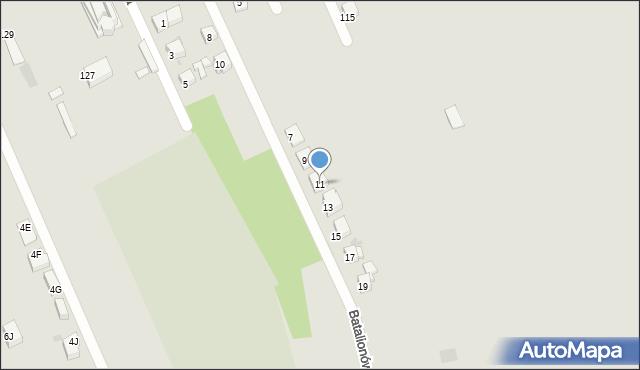 Bytom, Batalionów Chłopskich, 11, mapa Bytomia