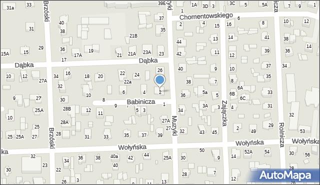 Chełm, Babinicza Waldemara, 2, mapa Chełma
