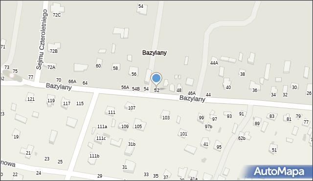 Chełm, Bazylany, 52, mapa Chełma