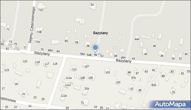 Chełm, Bazylany, 54, mapa Chełma