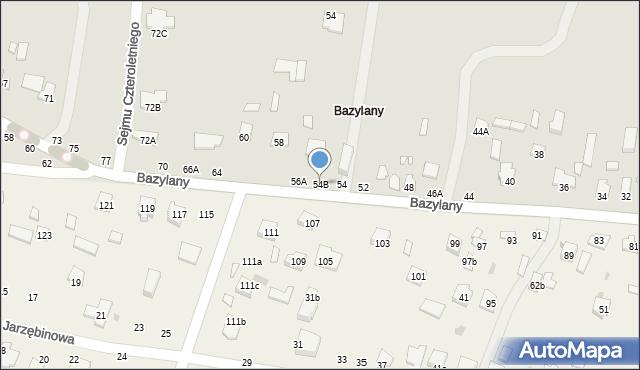 Chełm, Bazylany, 54B, mapa Chełma