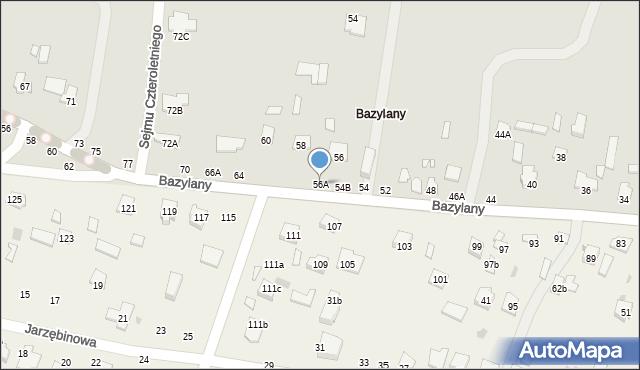 Chełm, Bazylany, 56A, mapa Chełma