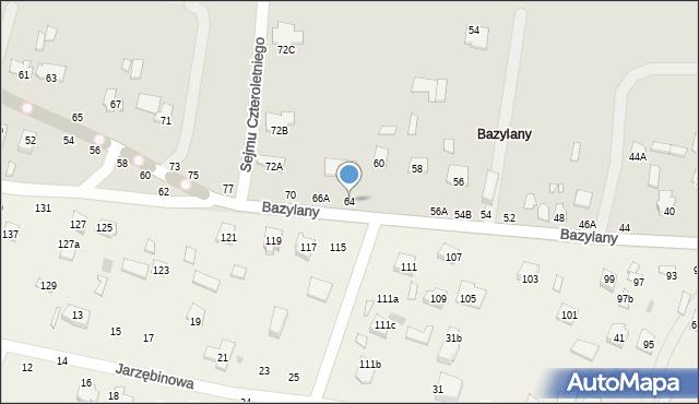 Chełm, Bazylany, 64, mapa Chełma