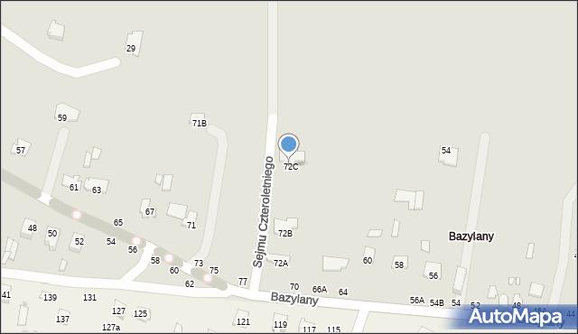 Chełm, Bazylany, 72C, mapa Chełma