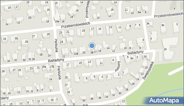 Gdynia, Balladyny, 18, mapa Gdyni