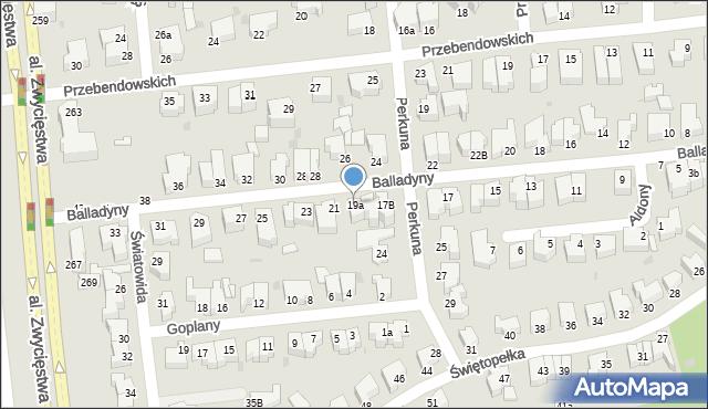 Gdynia, Balladyny, 19a, mapa Gdyni