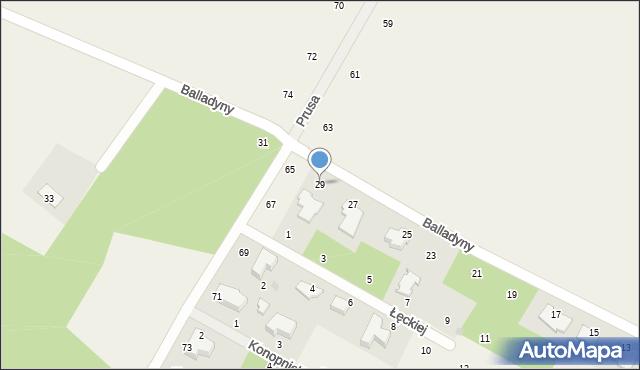 Janów, Balladyny, 29, mapa Janów