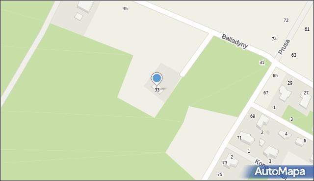 Janów, Balladyny, 33, mapa Janów