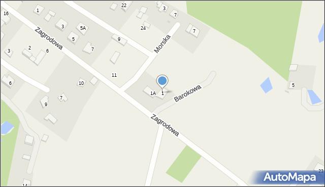 Kębłowo, Barokowa, 1, mapa Kębłowo