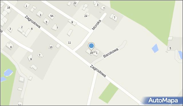 Kębłowo, Barokowa, 1A, mapa Kębłowo
