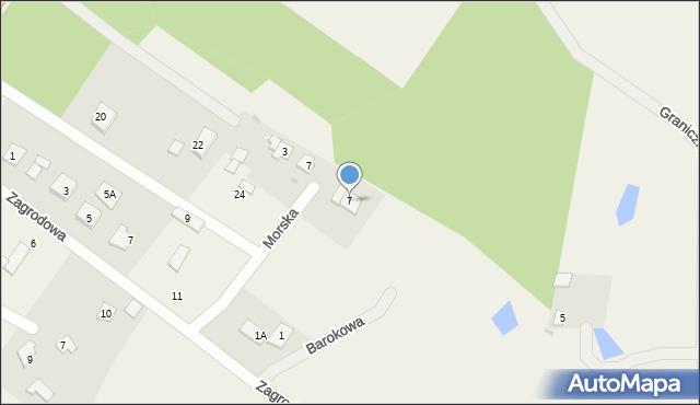 Kębłowo, Barokowa, 7, mapa Kębłowo
