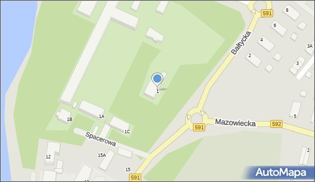Kętrzyn, Bałtycka, 1, mapa Kętrzyn